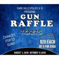 Gun Raffle to benefit the Park Hills K-9 Program!