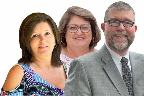 Tammy Whitehead, Accounting Manager, Kim Baxley, VP, Tim Baxley, MBA, CIC, AAI  President