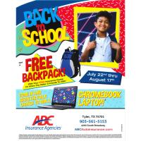 BACK TO SCHOOL GET A FREE BACKPACK!