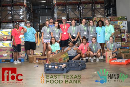Hand Up Network Response Team helps out at East Texas Food Bank