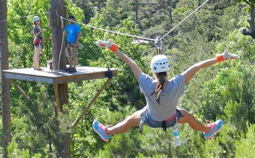 Woo Hoo! Zipping FUN at New York, Texas ZipLine Adventures