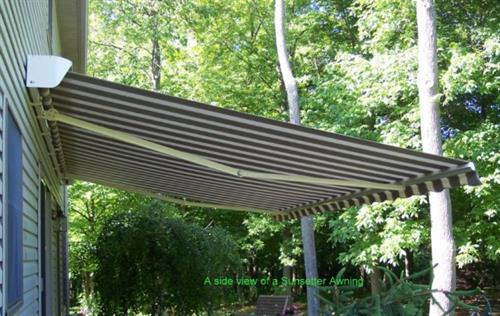 A side view of a Sunsetter Awning