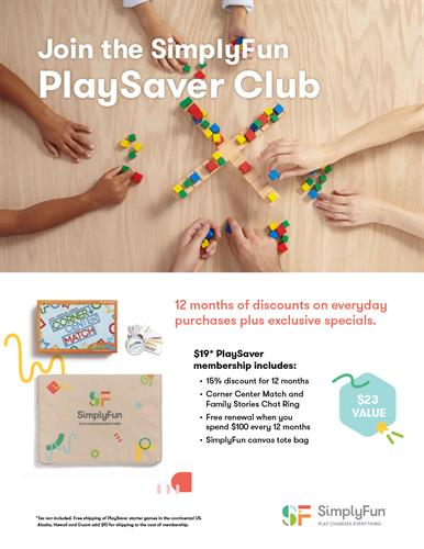 Join Our PlaySaver Club!
