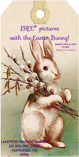FREE pictures with the EASTER BUNNY!!March 24th and 25th, 12-3pm