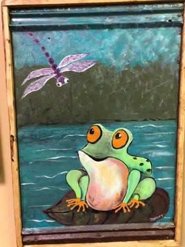 Artwork by local artist, Lee Arnold