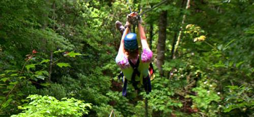 Wheww! Zipline through the trees @ Nantahala Gorge Canopy!