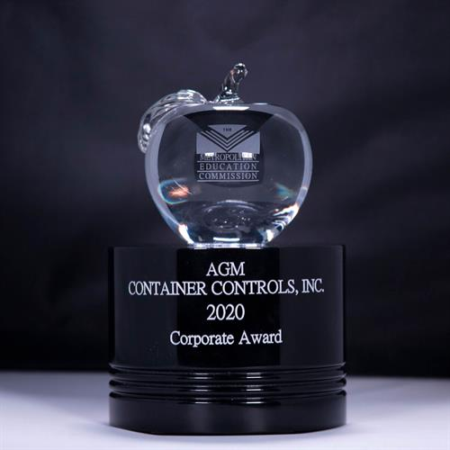 AGM was awarded the 2020 Crystal Apple Corporate Award from the Metropolitan Education Commission.