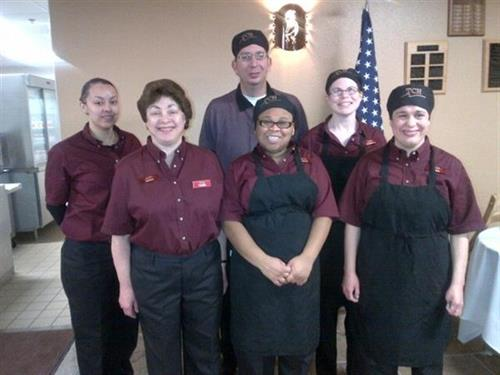 Happy employees at the Desert Inn dining facility on Davis-Monthan AFB
