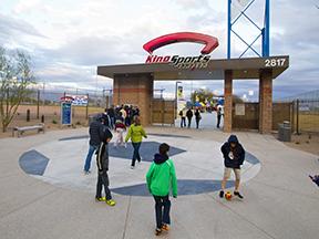 Kino Sports Complex North Stadim entrance