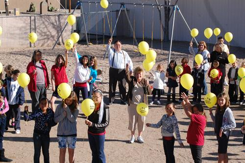 School Choice Week baloon launch