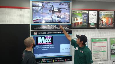 secure storage units with 24hr cameras at U-Haul Moving & Storage at Ina Rd