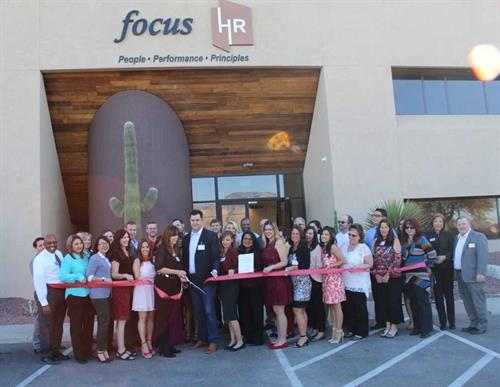 The Tucson Metro Chamber Ribbon Cutting at our new location
