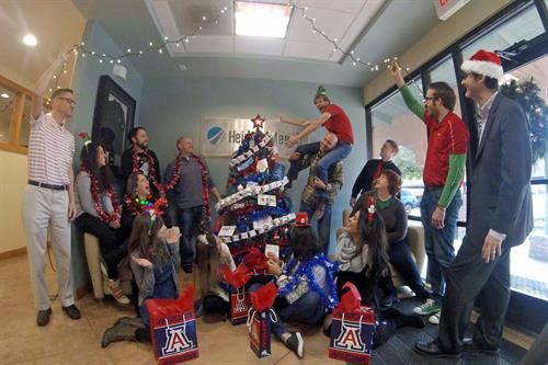 Annual Christmas photo for Tucson office, 2017