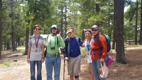 Students enjoying Mt. Lemmon on one of our weekly recreation trips