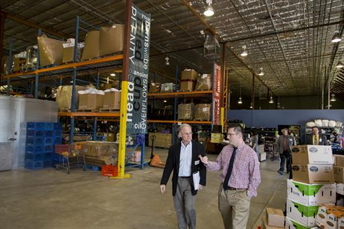 Mayor Rothschild visits GAP Community Warehouse