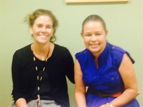 BIAAZ Resource Facilitation Specialist, Anna with Dr. Rice