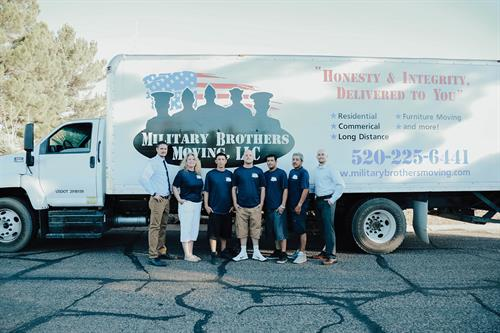 The Military Brothers Moving family