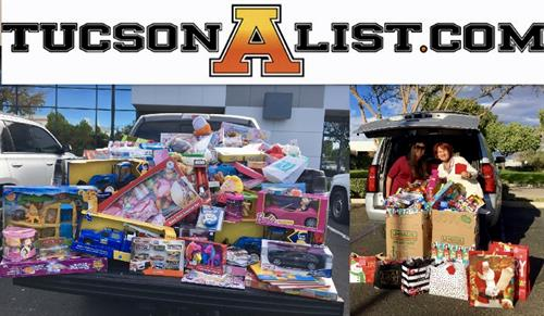 1st Annual TucsonAlist.com Toy Drive. Donated over 600 toys to The AZ Children's Association benefiting Tucson foster children