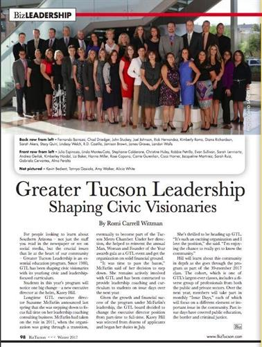Greater Tucson Leadership Class of 2016