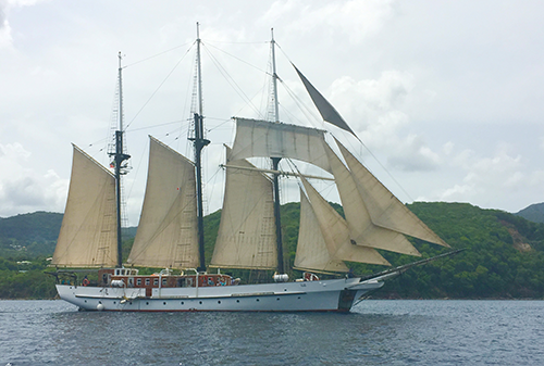 Island Windjammer's Vela. Join us for a sail in August 2018!
