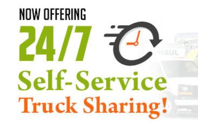 U-Haul 24/7 Self-Pick-Up and Self-Return lets you rent and return a truck anytime, day or night.