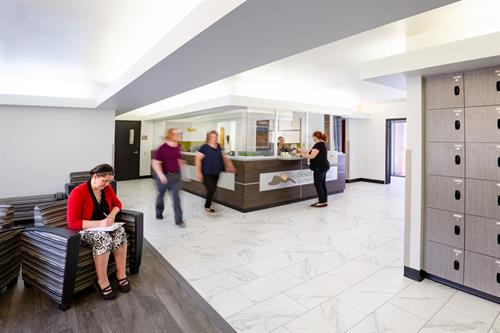 Our outpatient lobby is welcoming to potential patients and their families.