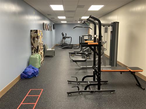 We have a military-only gym that is used by servicemembers during their inpatient stay. One hour of physical training built into their daily schedule.