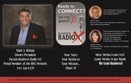 This says it all my friends check in to the Chamber Shows on www.tucsonbusinessradiox.com