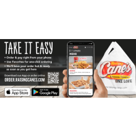 Raising Cane's Chicken Fingers has launched mobile ordering!