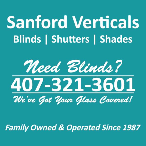 Sanford Verticals - Blinds, Shutters, & Shades