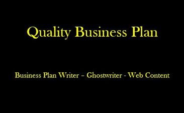 Quality Business Plan