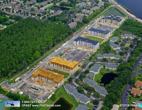 Ariel View of Property in Construction Phase