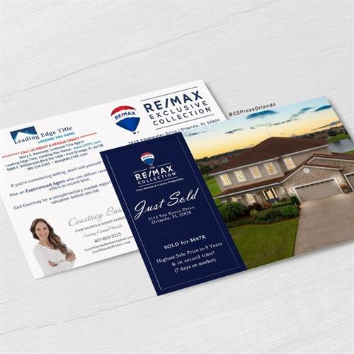 Just Sold Postcards for a Real Estate Company in Orlando Area