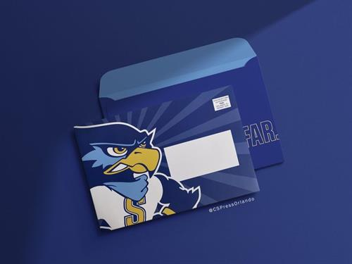 Go State. Go Far. Envelopes printed for Seminole State College of Florida.