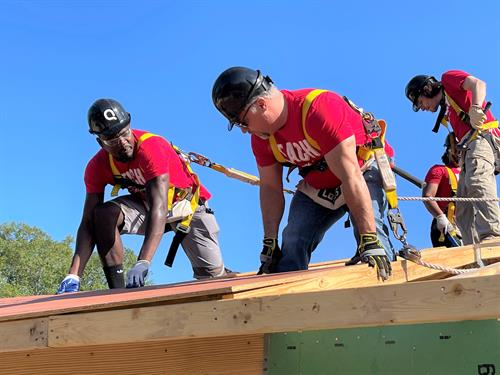 Organizations coming out to help build homes.