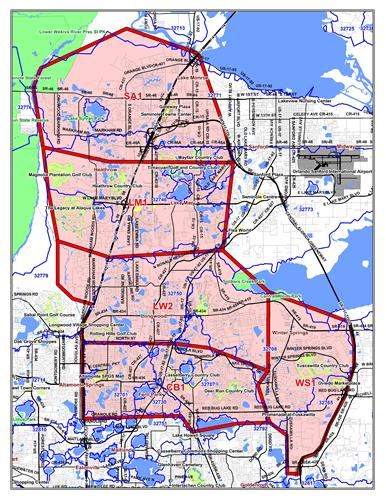 Money Mailer of North Orlando zone map