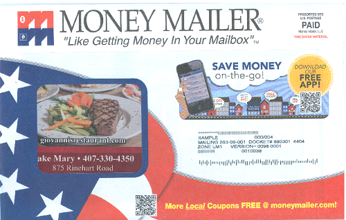Lake Mary mailer