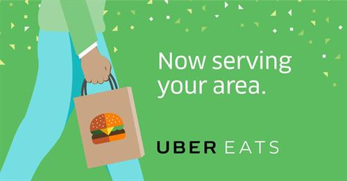 We deliver with Uber Eats