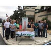 Resolute Tissue donates to Clean Kids Backpack Program