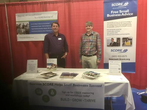 Jim Richmond and Tim Cook in attendance at the Rochester Business Expo.
