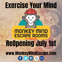 Monkey Mind Escape Rooms reopening July 1