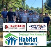 Southeast New Hampshire Habitat for Humanity joins forces with Veterans Count and Team Rubicon to assist N.H. Veteran