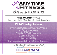 FREE MONTH for ALL Chamber Staff, Members & their Families at Anytime Fitness