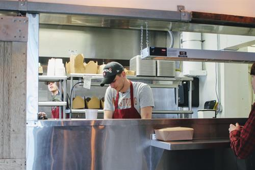 Chef / Owner Will Myska at Ore Nell's Barbecue