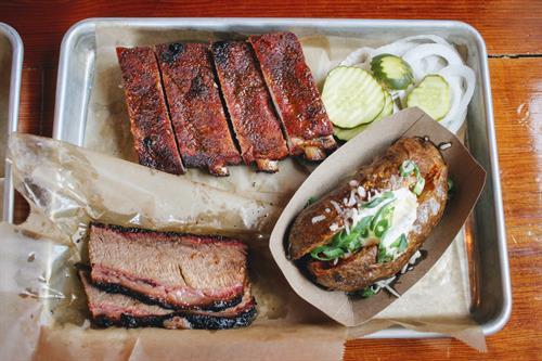 Barbecue plate at Ore Nell's Barbecue