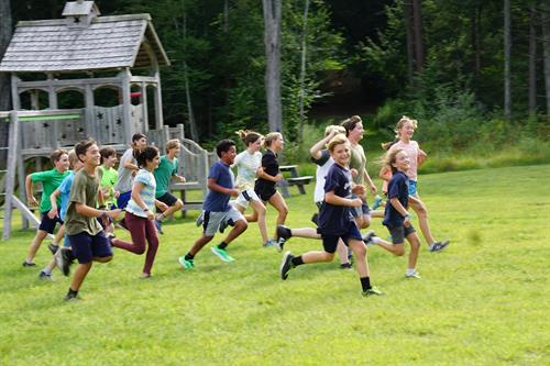 Movement class outside happens twice a week for each grade.