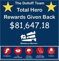The Dolloff Team Exceeds $80,000 in Commission Given Back to Local Heroes