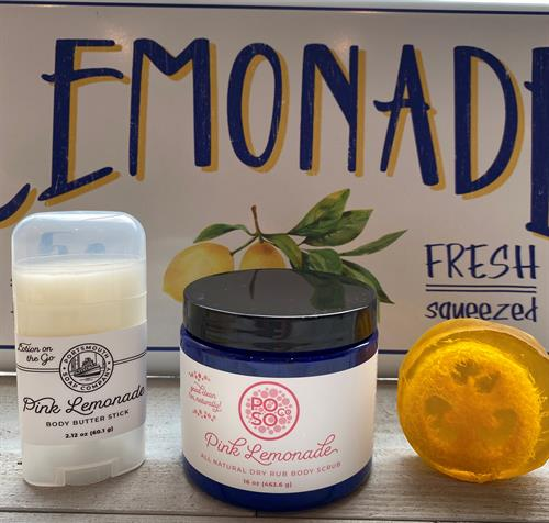 Summer Scents!  Lemonade Body Stick, Scrub and Loofah Soap.