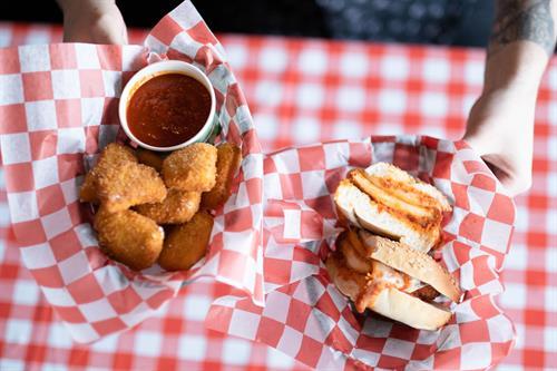 Chicken Parm sandwich at Fried Mozzarella at Luigi's West End Pizzeria