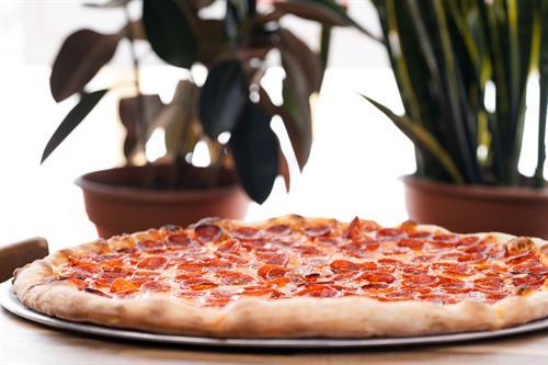 Pepperoni pizza at Luigi's West End Pizzeria
